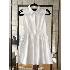 Nasty Gal White Collared Dress
